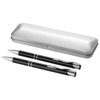 Dublin writing set in black-solid-and-silver