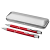 Dublin writing set in red-and-silver