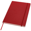 Executive A4 hard cover notebook in red