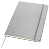 Executive A4 hard cover notebook in silver