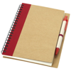Priestly recycled notebook with pen in natural-and-red