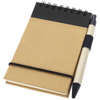 Zuse A7 recycled jotter notepad with pen in natural-and-black-solid