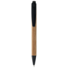 Borneo bamboo ballpoint pen in natural-and-black-solid