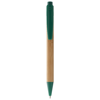 Borneo bamboo ballpoint pen in natural-and-green
