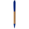 Borneo bamboo ballpoint pen in natural-and-royal-blue