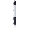 Bubble ballpoint pen in silver-and-black-solid