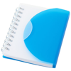 Post A7 spiral notebook with blank pages in blue-and-transparent