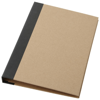 Ranger cardboard portfolio with A5 notepad in natural-and-black-solid