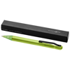 Smooth ballpoint pen in frosted-green-and-white-solid