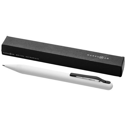 Smooth ballpoint pen in white-solid