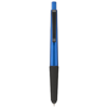 Gummy stylus ballpoint pen with soft-touch grip in blue-and-black-solid