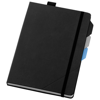Alpha notebook with page dividers in black-solid