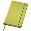 Rainbow small hard cover notebook in lime-green
