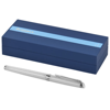 Hemisphere fountain pen. in white-solid-and-silver