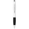 Mandarine stylus ballpoint pen in silver-and-black-solid