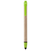 Planet recycled stylus ballpoint pen in lime