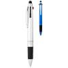 Burnie multi-ink stylus ballpoint pen in silver