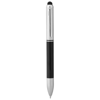 Seosan dual-ink stylus ballpoint pen in black-solid-and-silver