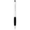 Ziggy stylus ballpoint pen in silver-and-black-solid