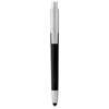 Salta stylus ballpoint pen in black-solid-and-silver