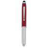 Xenon stylus ballpoint pen with LED light in red-and-silver