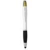 Nash stylus ballpoint pen and highlighter in silver-and-black-solid