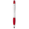 Nash stylus ballpoint pen and highlighter in silver-and-red