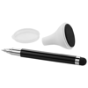 Bullet stylus ballpoint pen and screen cleaner in black-solid