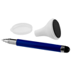 Bullet stylus ballpoint pen and screen cleaner in royal-blue