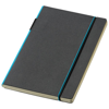 Cuppia A5 hard cover notebook in black-solid-and-light-blue