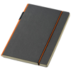 Cuppia A5 hard cover notebook in black-solid-and-orange