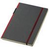 Cuppia A5 hard cover notebook in black-solid-and-red