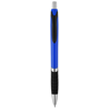Turbo ballpoint pen with rubber grip in royal-blue-and-black-solid