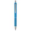 Bling ballpoint pen with aluminium grip in light-blue