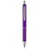 Bling ballpoint pen with aluminium grip in purple