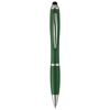 Nash stylus ballpoint pen with coloured grip in green