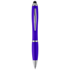 Nash stylus ballpoint pen with coloured grip in purple
