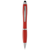 Nash stylus ballpoint pen with coloured grip in red
