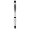 Nash stylus ballpoint pen with coloured grip in white-solid
