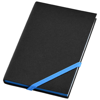 Travers small hard cover notebook in black-solid-and-blue