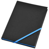 Travers hard cover notebook in black-solid-and-blue