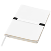 Stretto A5 soft cover notebook in white-solid