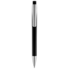 Pavo ballpoint pen with squared barrel in black-solid