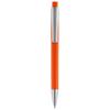 Pavo ballpoint pen with squared barrel in orange