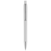 Pavo ballpoint pen with squared barrel in white-solid