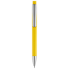 Pavo ballpoint pen with squared barrel in yellow