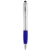 Nash stylus ballpoint pen in silver-and-blue