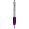 Nash stylus ballpoint pen in silver-and-purple