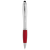 Nash stylus ballpoint pen in silver-and-red