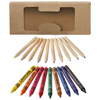 Lucky 19-piece coloured pencil and crayon set in natural